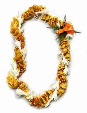 Ilima and Tuberose Twist Lei