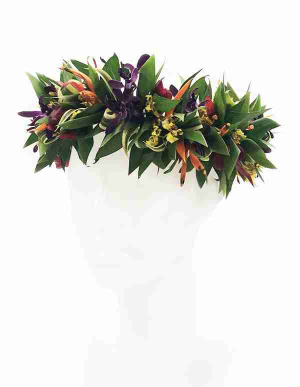 Tropical Hawaiian Haku Lei