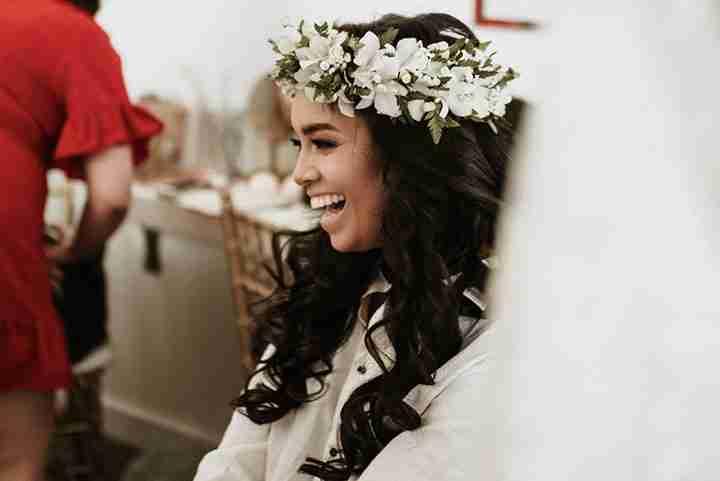 Wedding Haku Leis and Hair Clips